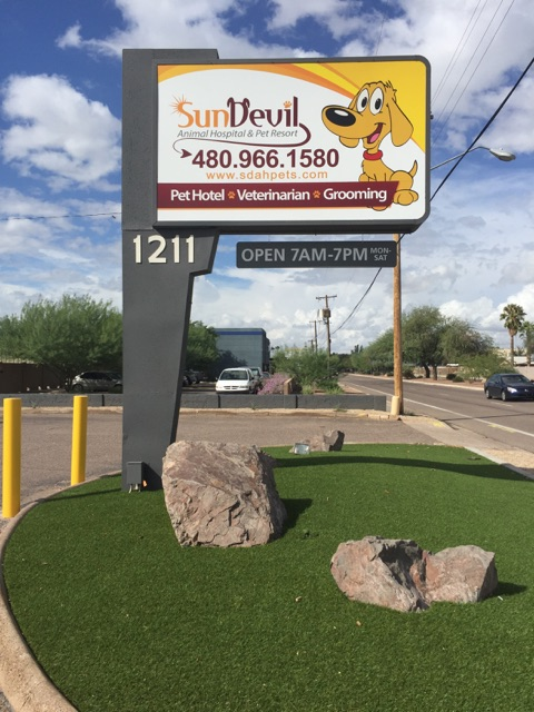 Sun Devil Animal Hospital and Pet Resort offers a large range of services and treatments that make us unique.  Our pricing is very competitive with other veterinarians and boarding facilities.